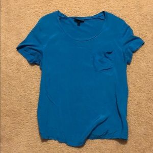 Bright Cobalt Blue Pocket Tee T-shirt Topshop 6